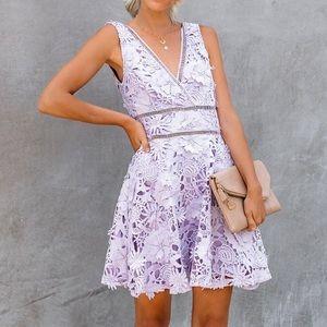 Vici purple floral lace dress